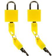 Rock 2ks TA-0009 - žlutá - Zámok na batožinu