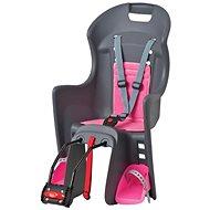 Polisport Boodie sivo-ružová - Detská sedačka na bicykel