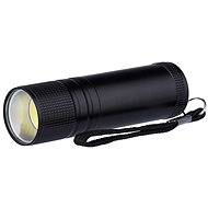 Emos kovová, 3W COB LED, na 3x AAA čierna - Svietidlo LED
