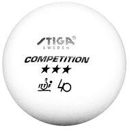 Stiga Competition, biele, 3 ks - Loptičky na stolný tenis