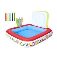 Nafukovací a kresliaci bazénik - 132x132x81 cm - Nafukovací bazén