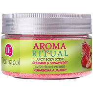 DERMACOL Aroma Ritual Body Scrub Rhubarb and Strawberry 200 g - Telový peeling