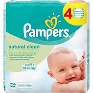 PAMPERS Natural Clean (4x 64 ks) - Vlhčené obrúsky