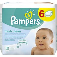 PAMPERS Wipes Fresh Clean (6 x 64 ks) - Vlhčené obrúsky