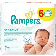 PAMPERS Wipes Sensitive (6 x 56 ks) - Vlhčené obrúsky