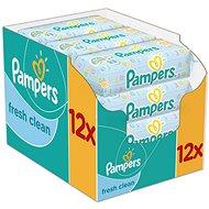 Pampers Wipes Fresh Clean (12 x 64 ks) - Vlhčené obrúsky
