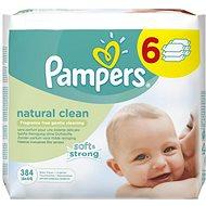 PAMPERS Natural Clean (6 x 64 ks) - Vlhčené obrúsky