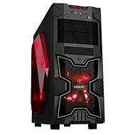 EVOLVEO SA02 čierna/červená - Počítačová skriňa