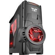 EVOLVEO SA05 čierna/červená - Počítačová skriňa