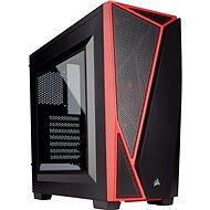 Corsair SPEC-04 Black/Red Carbide Series červená/čierna s priehľadnou bočnicou