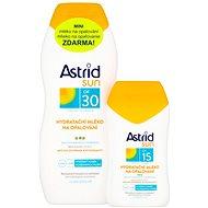 ASTRID SUN Hydratačné mlieko na opaľovanie SPF 30 200 ml + Hydratačné mlieko na opaľovanie SPF 15 100 ml - Súprava