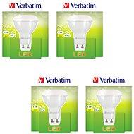 Verbatim 3,6 W LED GU10 2700K súprava 4 ks - LED žiarovka