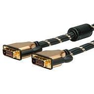 ROLINE Gold DVI dual link, ferity, 7,5 m - Video kábel