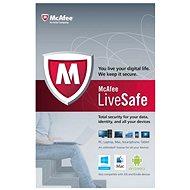 McAfee LiveSafe na 12 mesiacov (všetky jazykové verzie) - Elektronická licencia