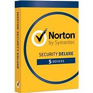 Symantec Norton Security Deluxe 3.0 CZ, 1 používateľ, 5 zariadení, 12 mesiacov - Elektronická licencia
