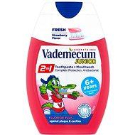 VADEMECUM Junior 2v1 Toothpaste + Mouthwash Strawberry Flavor 75 ml - Zubná pasta