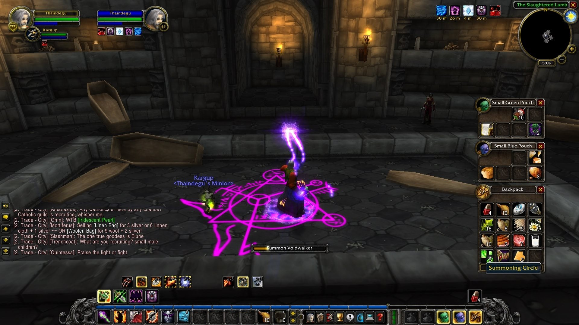 World of Warcraft Classic; gameplay: vyvolávanie