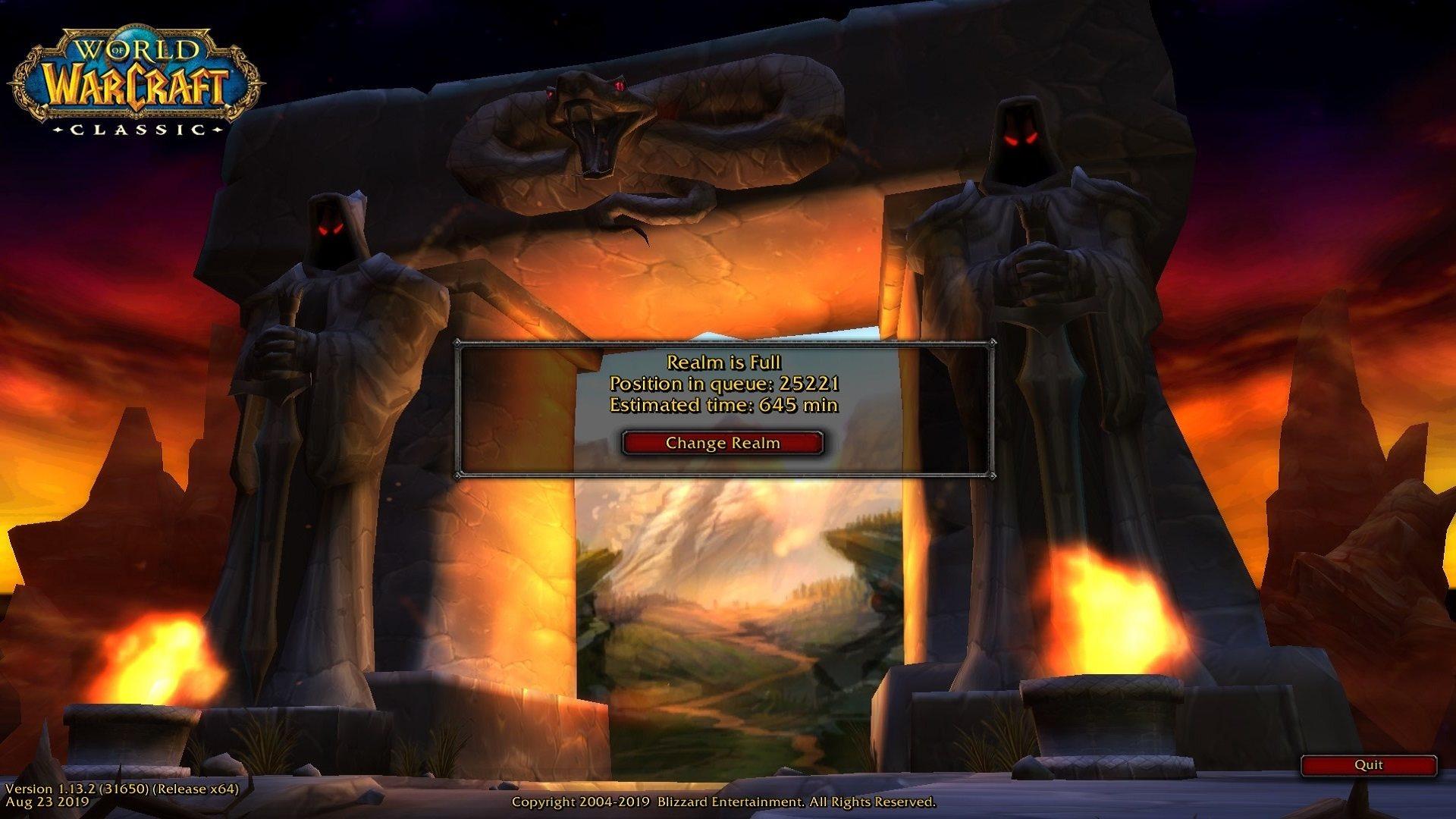 World of Warcraft: Classic; screenshot: lobby
