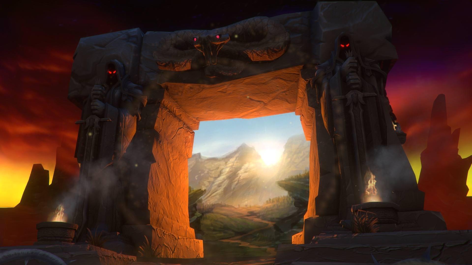 World of Warcraft Classic; screenshot: dark portal