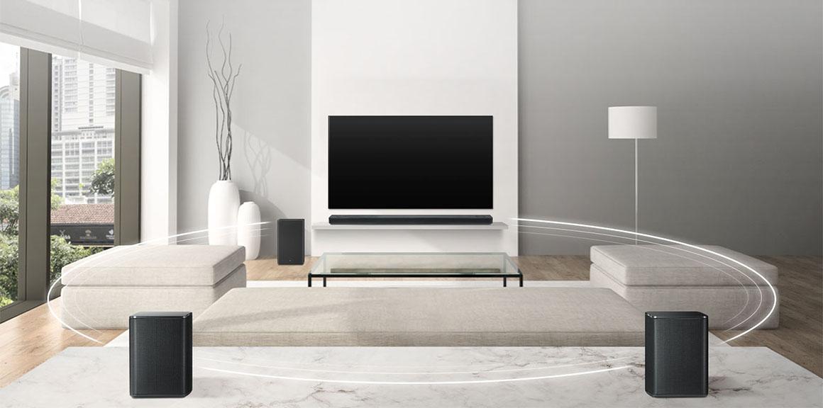 Soundbary LG, obývačka