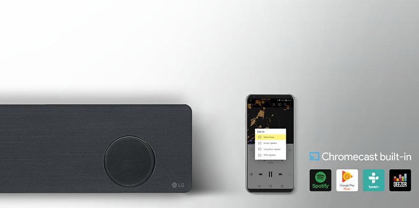 Soundbary LG, chromecast