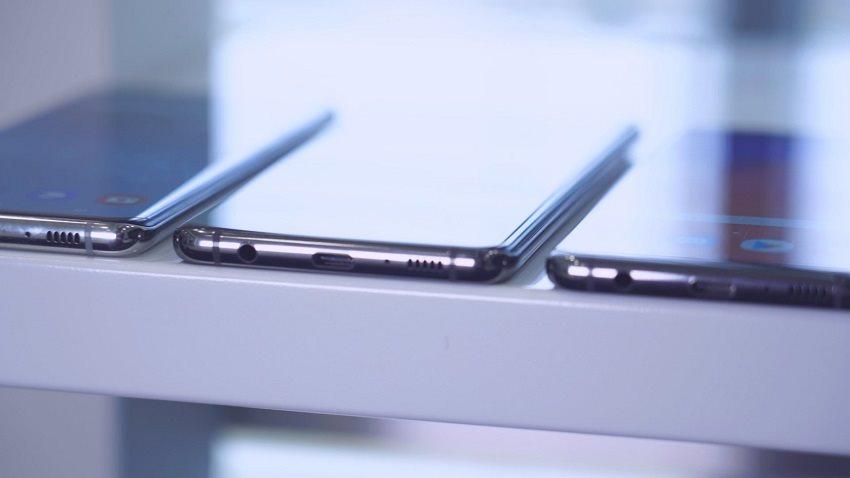 Porovnanie šírky: Samsung Galaxy S10, Galaxy S10+ a Galaxy S10e
