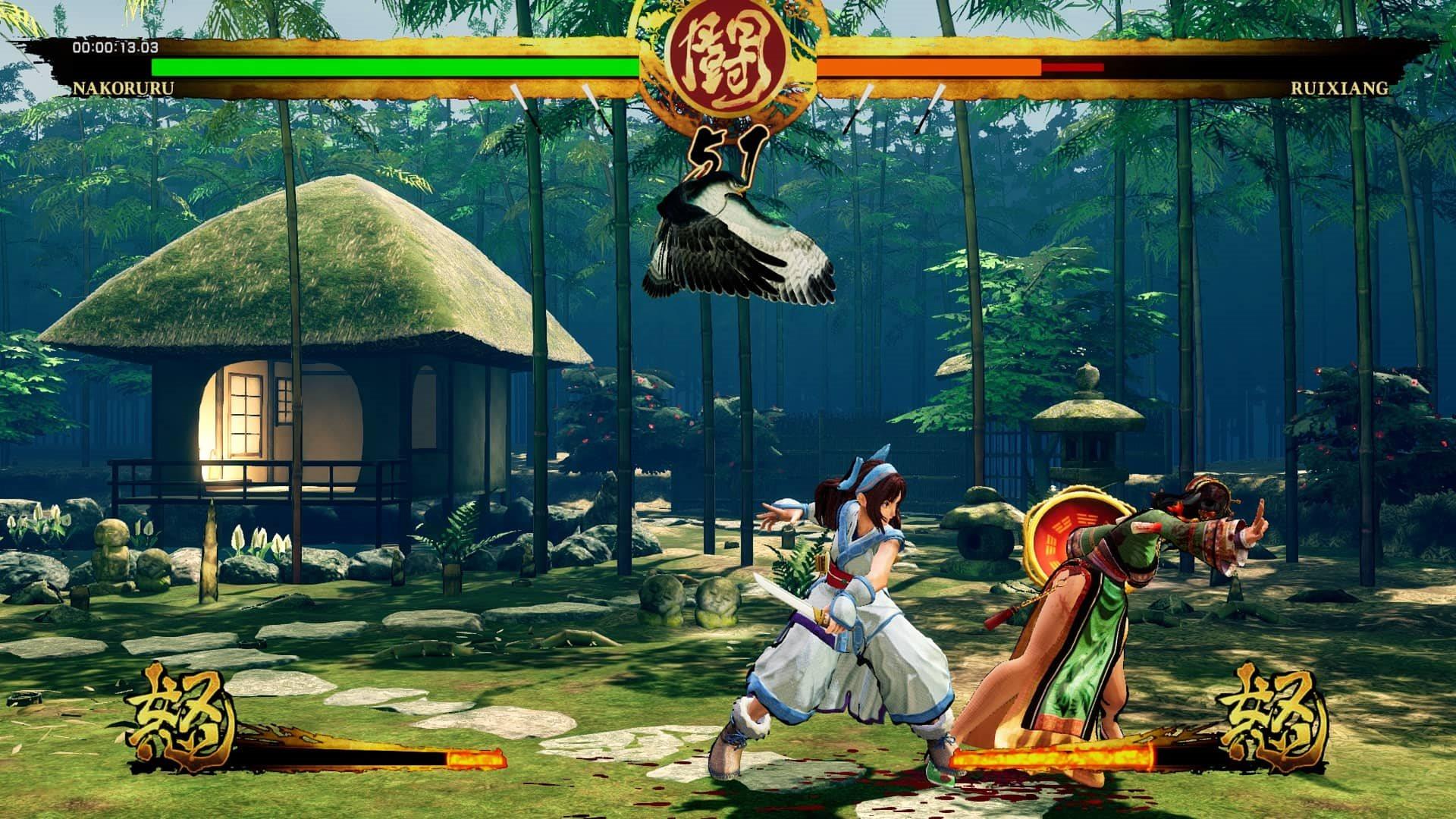 Samurai Shodown; gameplay: dcérky