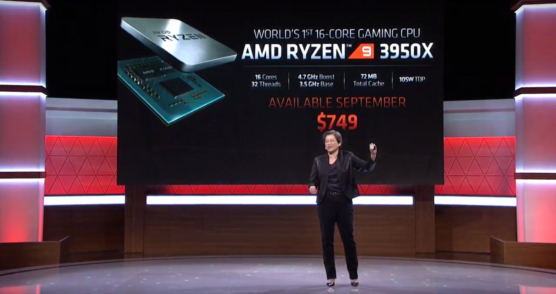 AMD; screenshot: AMD Ryzen 3950x