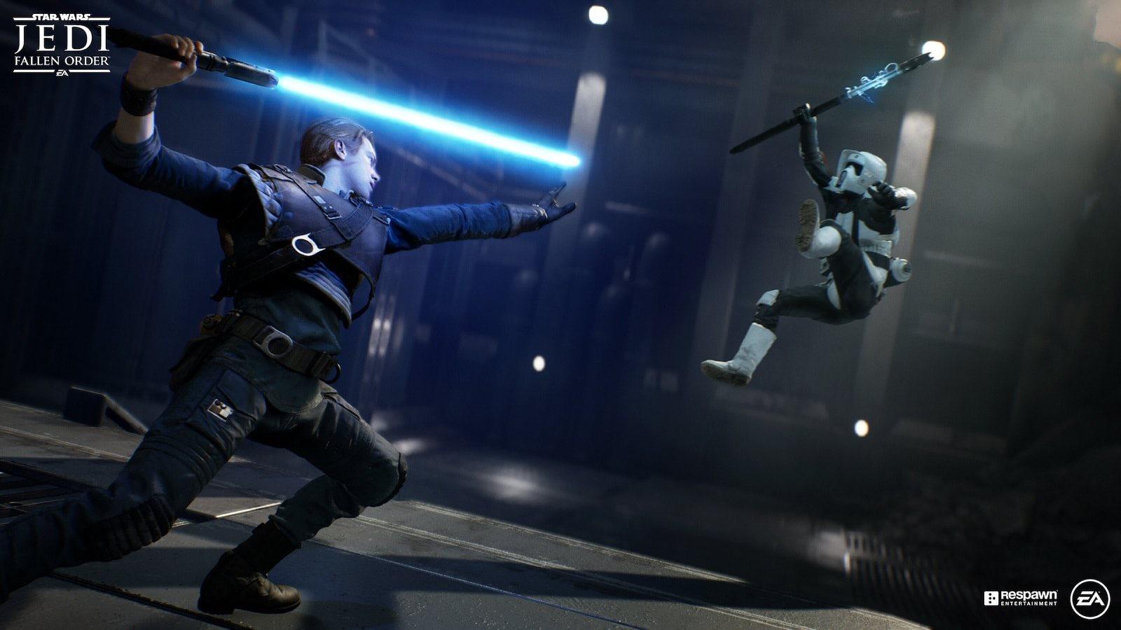 Star Wars Jedi: Fallen Order; screenshot: súboj