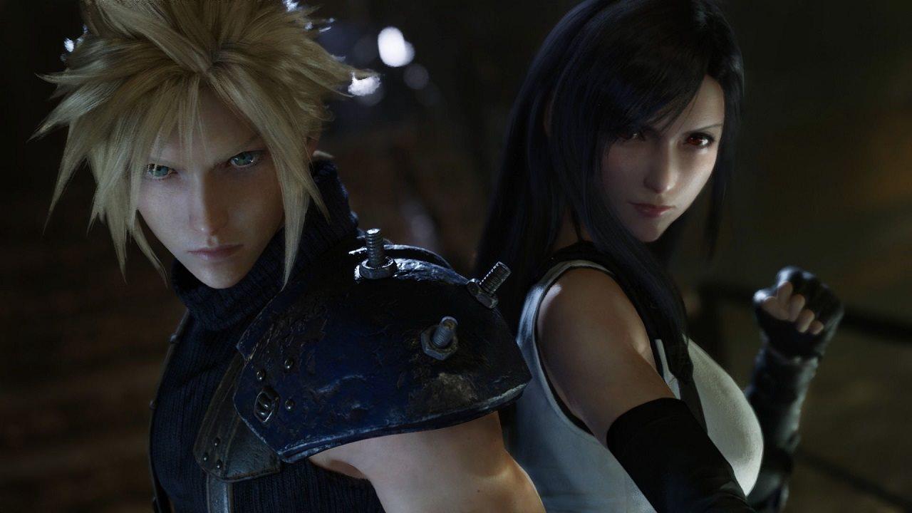 Final Fantasy VII Remake; screenshot: Clouda and Tifa