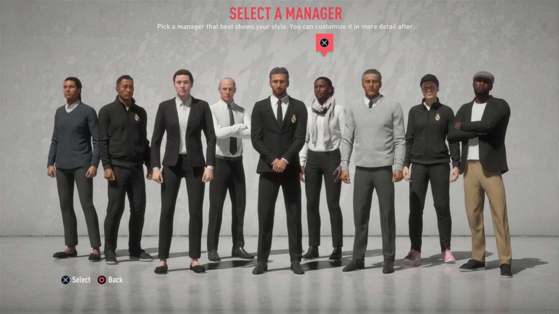 FIFA 20; screenshot: voľba