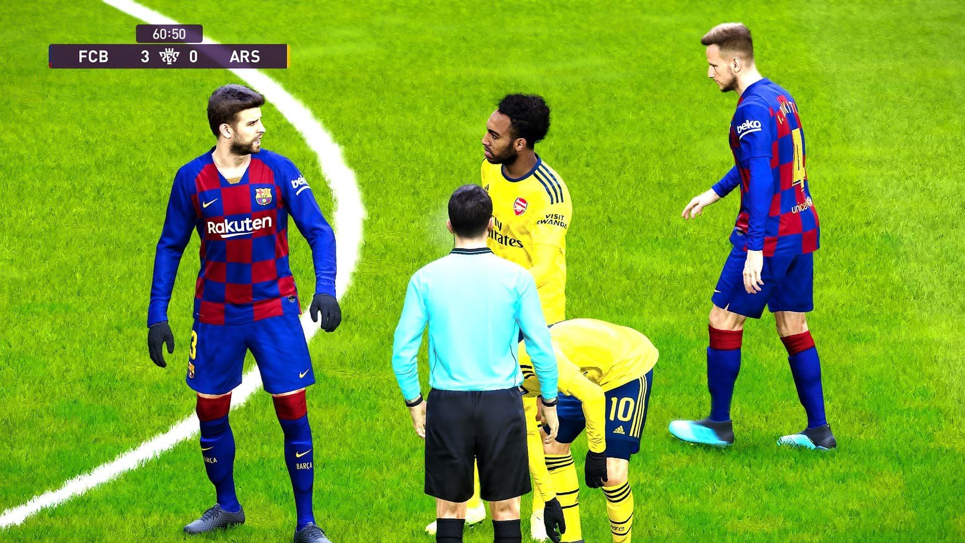 eFootball PES 2020; gameplay: rozhodca