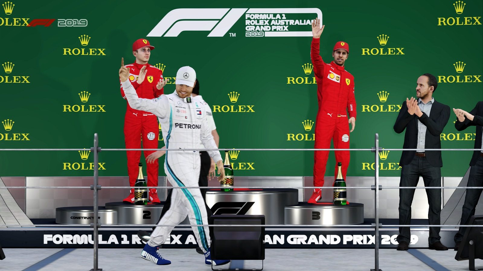 F1 2019; screenshot: oslavy