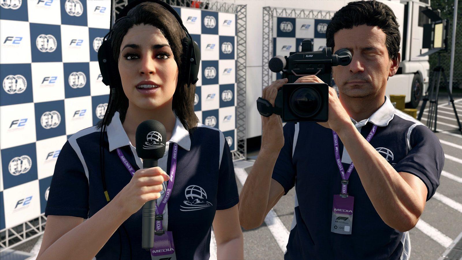 F1 2019; gameplay: rozhovor