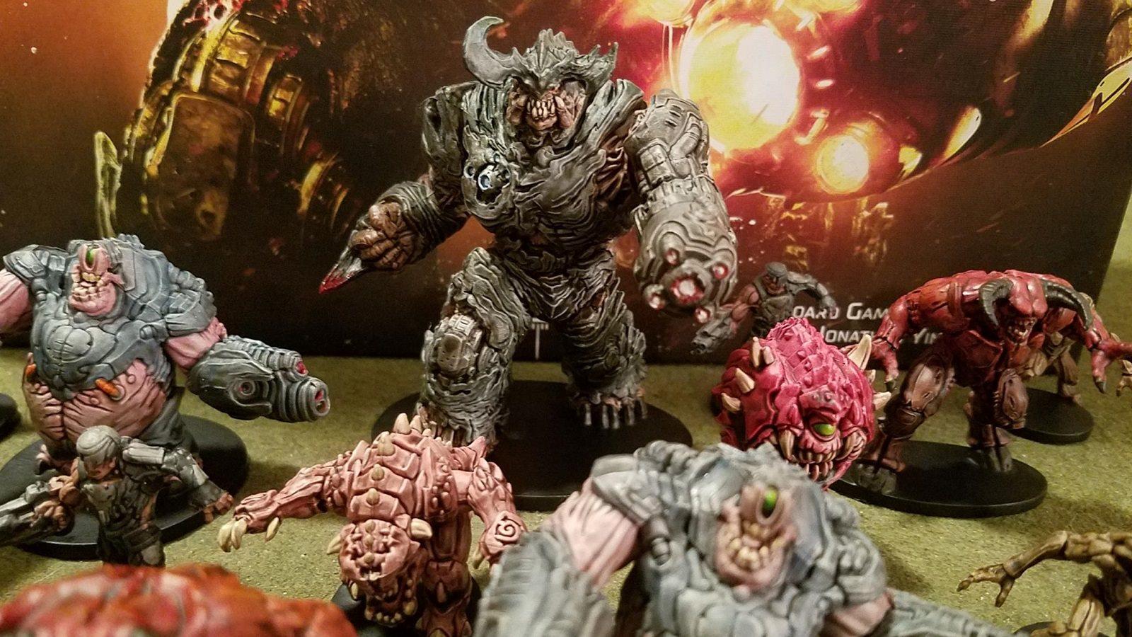 Deskové hry podle počítačové predlohy; screenshot: Doom figúrky