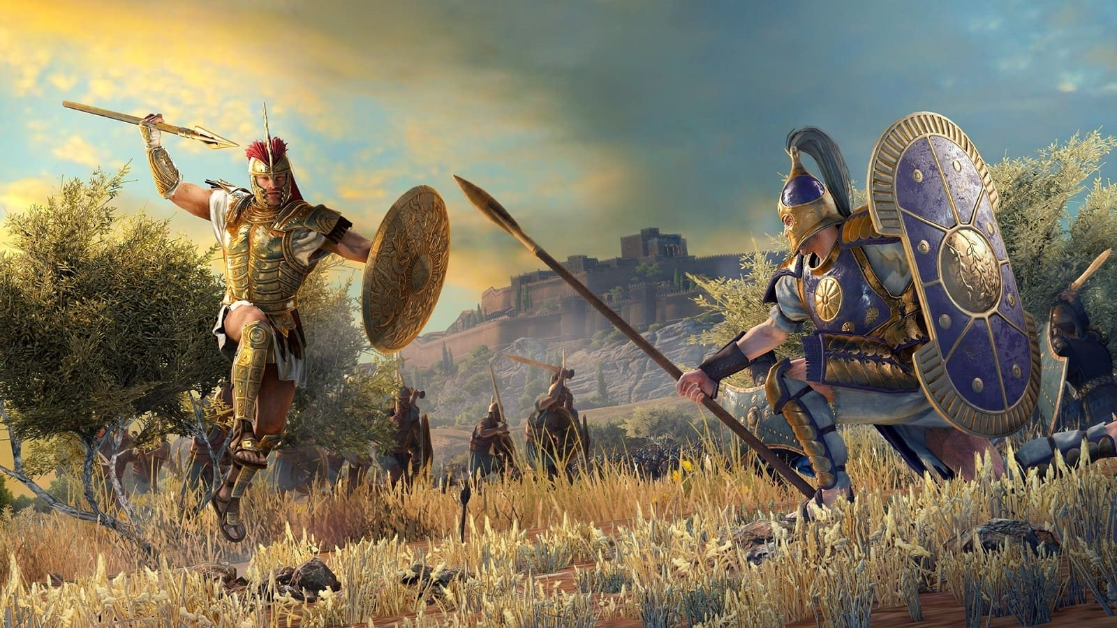 Total War Saga: Troy; screenshot: hrdinové