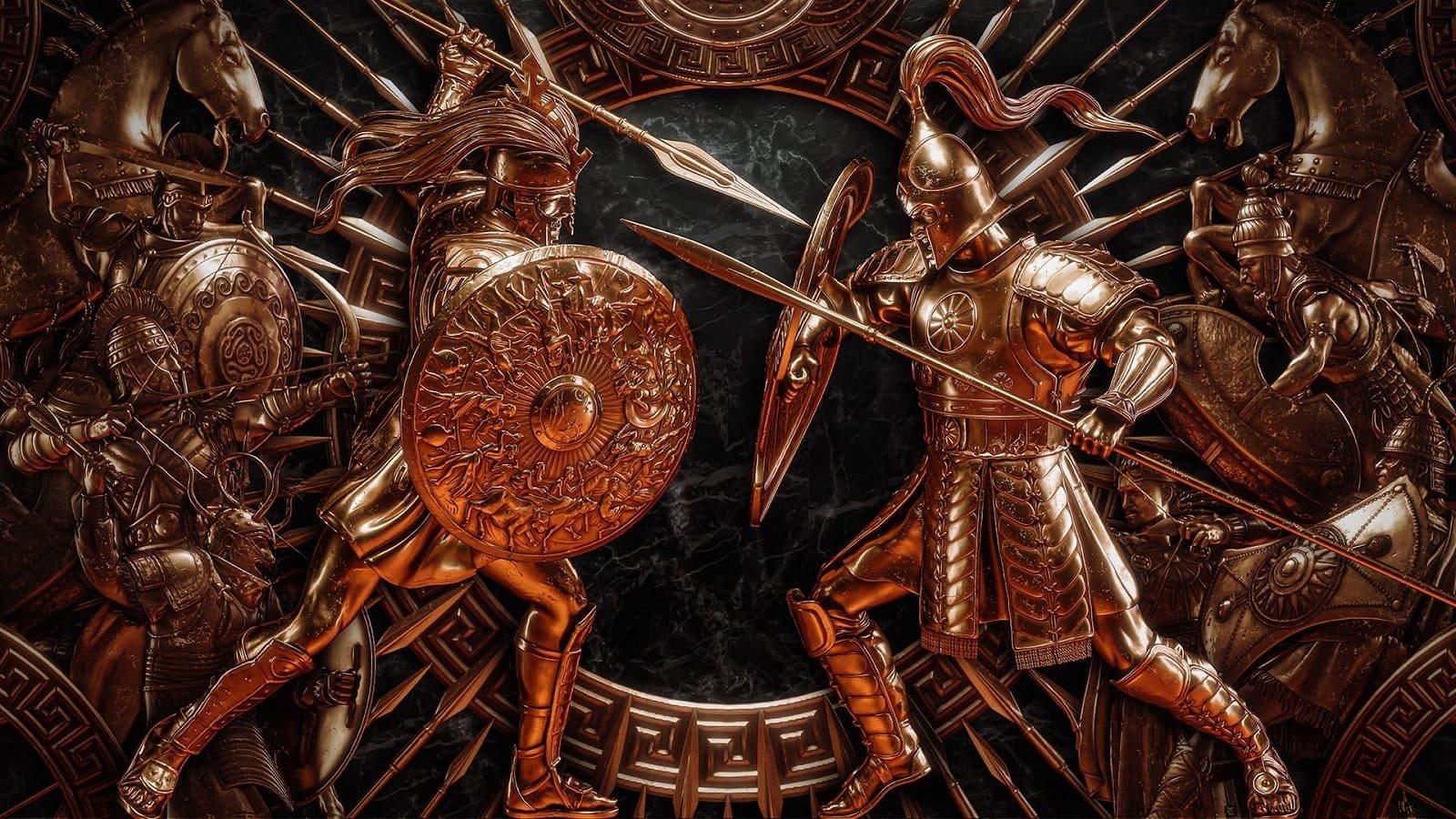 Total War Saga: Troy; wallpaper: bojovník