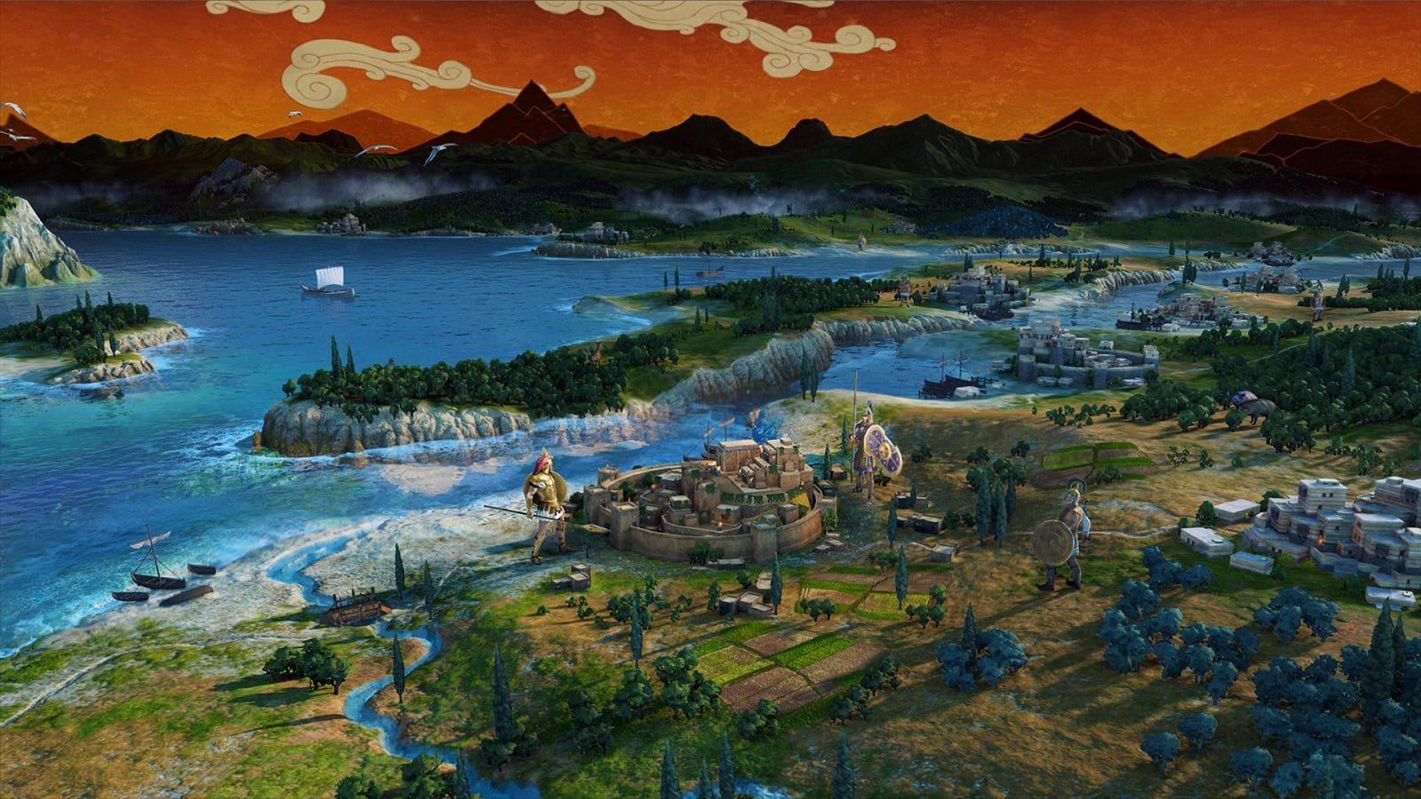 Total War Saga: Troy; screenshot: mapa, grafika